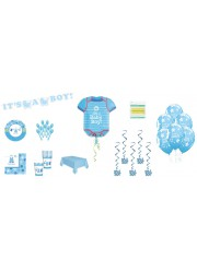 Kit décoration Baby shower Baby girl (8 pers.)