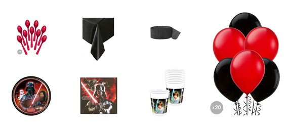 Kit anniversaire Star Wars (8 pers.)