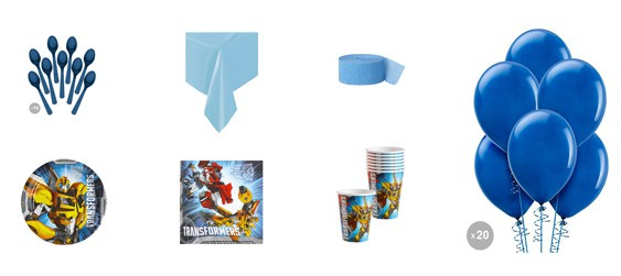 Kit anniversaire Transformers (8 pers.)