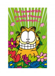 "Carte anniversaire Garfield ""Bouquet"""