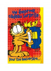 "Carte anniversaire Garfield ""Cadeau surprise"""