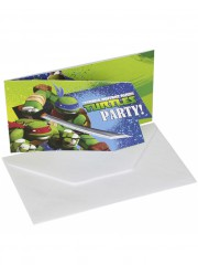 Invitations Tortues Ninja (x6)