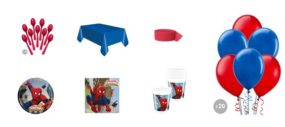 Kit anniversaire Spiderman (8 pers.)