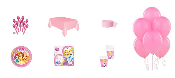 Kit anniversaire Disney princess (8 pers.)