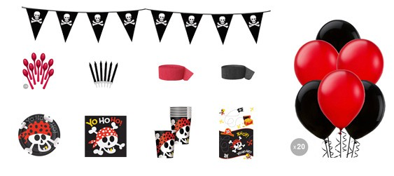 Kit anniversaire pirates luxe (8 pers.)