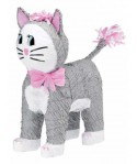 Pinata chat rose et gris