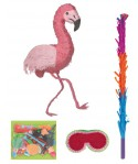 Kit pinata flamant rose