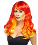 Perruque diablesse flamme femme Halloween