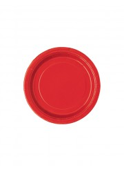 Assiettes rouges 18 cm (x20)