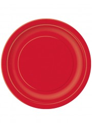 Assiettes rouges 23 cm (x16)
