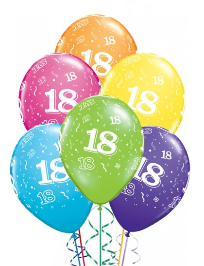 ballons anniversaire 18 ans x6 mister fiesta. Black Bedroom Furniture Sets. Home Design Ideas