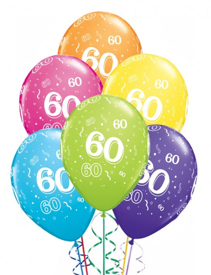 ballons anniversaire 60 ans x6 mister fiesta. Black Bedroom Furniture Sets. Home Design Ideas