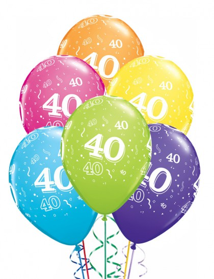 ballons anniversaire 40 ans x6 mister fiesta. Black Bedroom Furniture Sets. Home Design Ideas