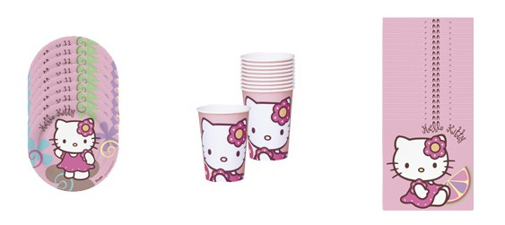 Kit goûter Hello Kitty (10 pers.)