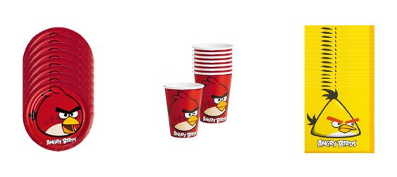 Kit goûter Angry birds (8 pers.)