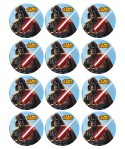Disques azymes pour cupcakes Star Wars (x12)