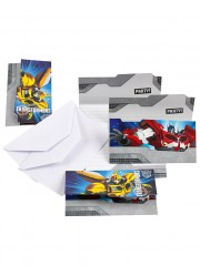 Invitations anniversaire Transformers (x6)