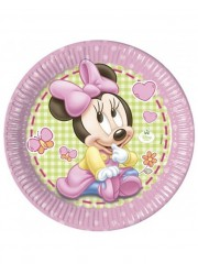 Assiettes Minnie bébé (x8)