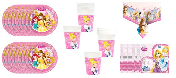 Kit goûter Disney princess (16 pers.)