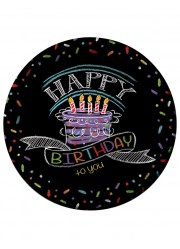 Assiettes Happy birthday to you (x8)