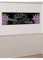 Bannière anniversaire Happy birthday to you (51 x 152 cm)
