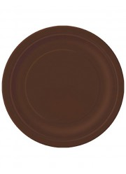 Assiettes marron (x8)