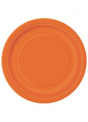 Assiettes orange (x8)