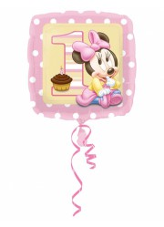 Ballon mylar Minnie 1 an (47 cm)