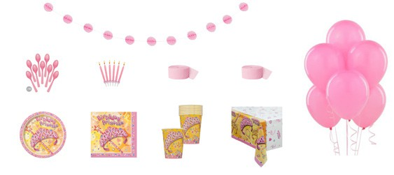 Kit anniversaire princesse luxe (8 pers.)