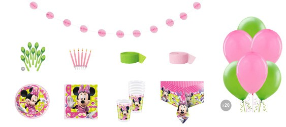 Kit anniversaire Minnie luxe (8 pers.)