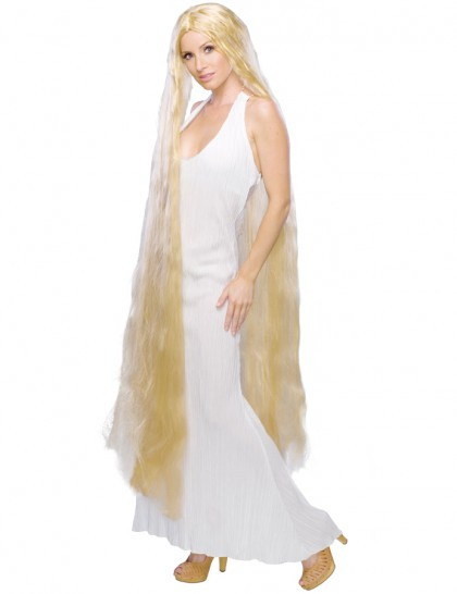 Perruque Lady blonde extra longue