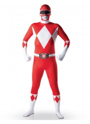 Déguisement Power rangers rouge seconde peau