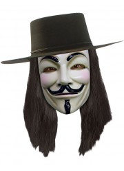 Perruque anonymous V pour Vendetta officiel