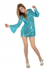 Robe tunique disco adulte