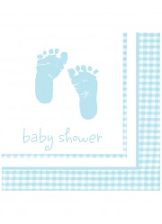Serviettes Baby shower garçon (x16)
