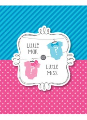 Invitations Baby shower Fille ou garçon (x8)