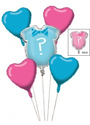 Bouquet de ballons Baby shower (x5)