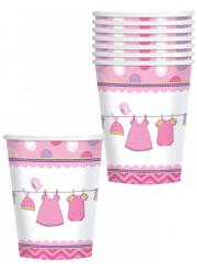 Gobelets Baby shower fille (x8)