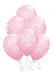 Ballons Baby shower fille (x6)
