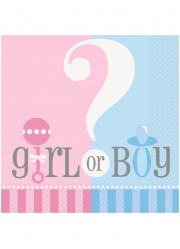 Assiettes Baby shower Girl or boy (x8)