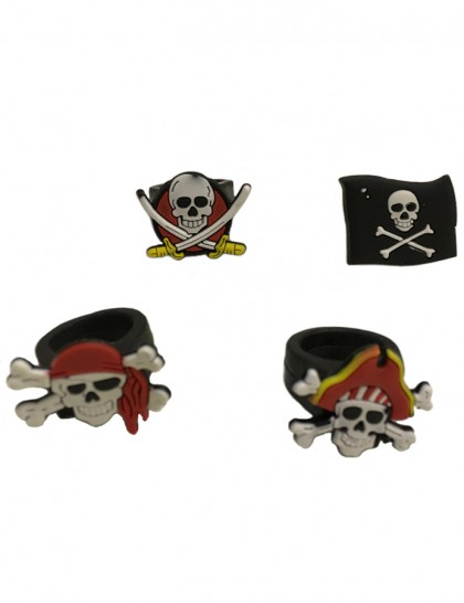 Bagues de pirates (x 4)