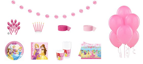 Kit anniversaire Disney princess luxe (8 pers.)