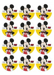 Disques azymes pour cupcakes Minnie (x12)