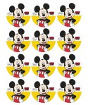 Disques azymes pour cupcakes Mickey (x12)