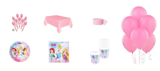 Kit anniversaire Disney princess Dreaming (8 pers.)