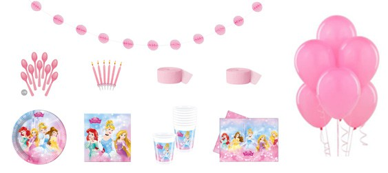 Kit anniversaire Disney princess Dreaming luxe (8 pers.)