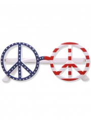 Lunettes hippie peace and love adulte