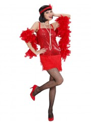 Déguisement robe charleston rouge adulte