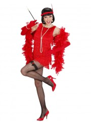Déguisement robe charleston rouge luxe adulte