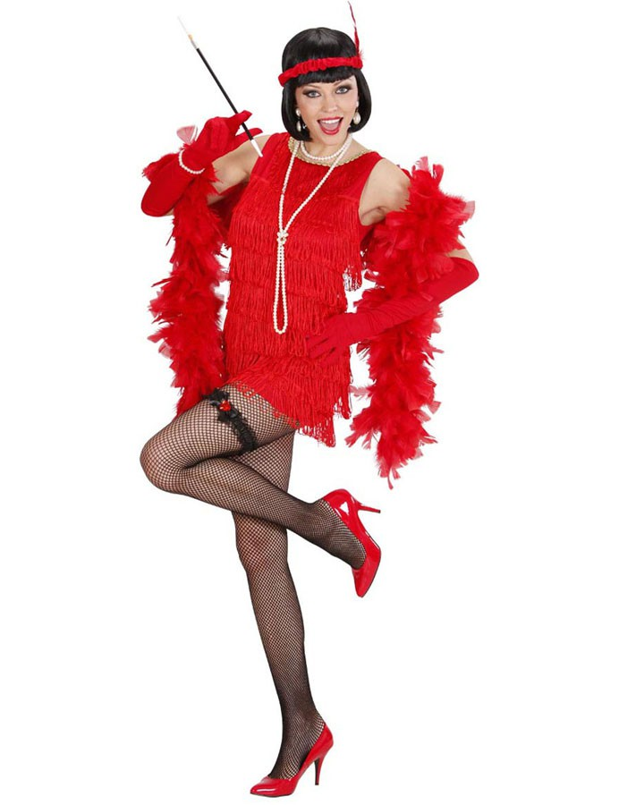 12b1652471d51 Déguisement robe charleston rouge luxe adulte - Mister Fiesta
